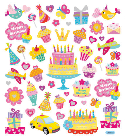 Multicolored Stickers-Your Birthday Sparkles