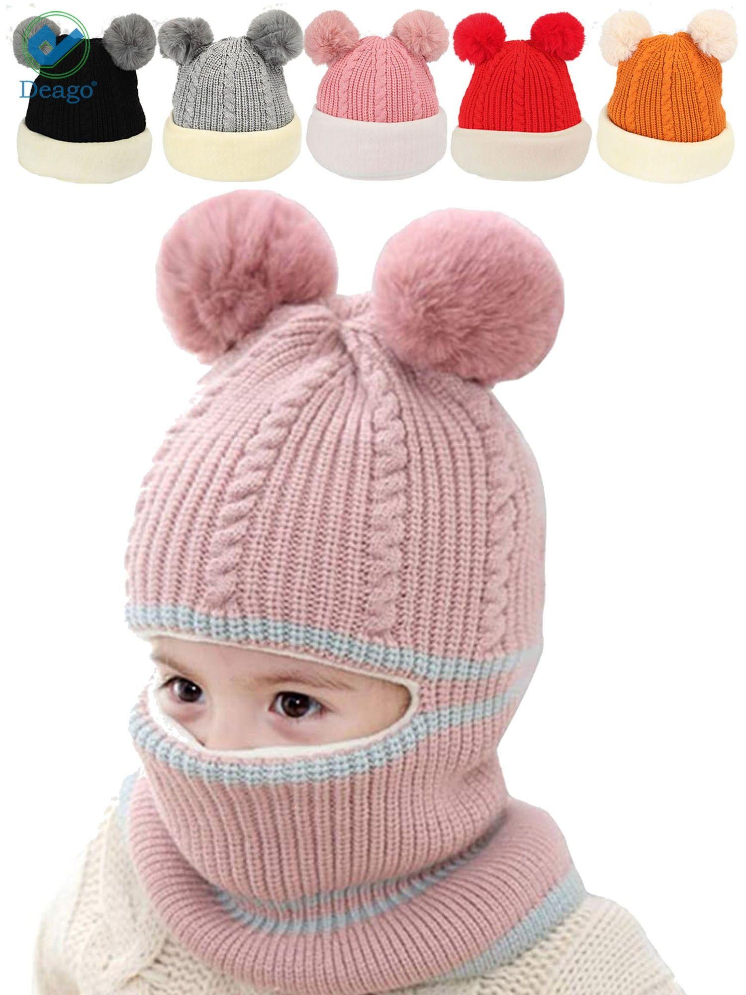 KIDS WINTER HAT BOYS GIRLS THICK SCHOOL WINTER WARM HAT AGE 3-6 YEARS BEANIE HAT