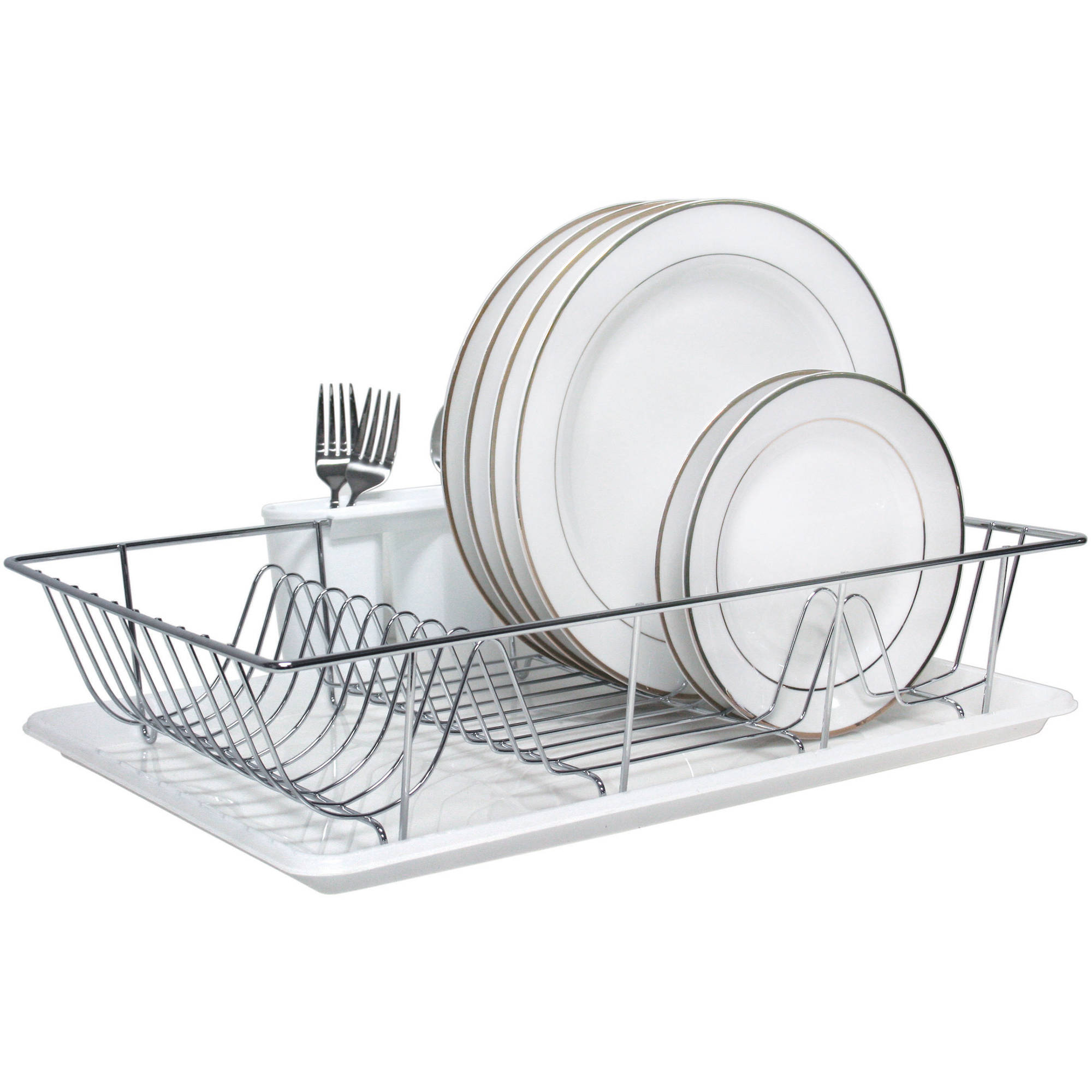 Kitchen Details, 3-Piece Chrome Dish Rack Set