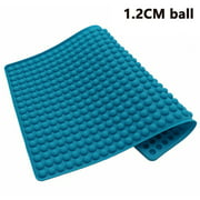 1.2cm Round Ball Barbecue Mat,Heat Resistant Up To 450 Degrees F,Safe To Use In Ovens, Microwaves, Refrigerators, Freezers and Dishwashers ORANGE