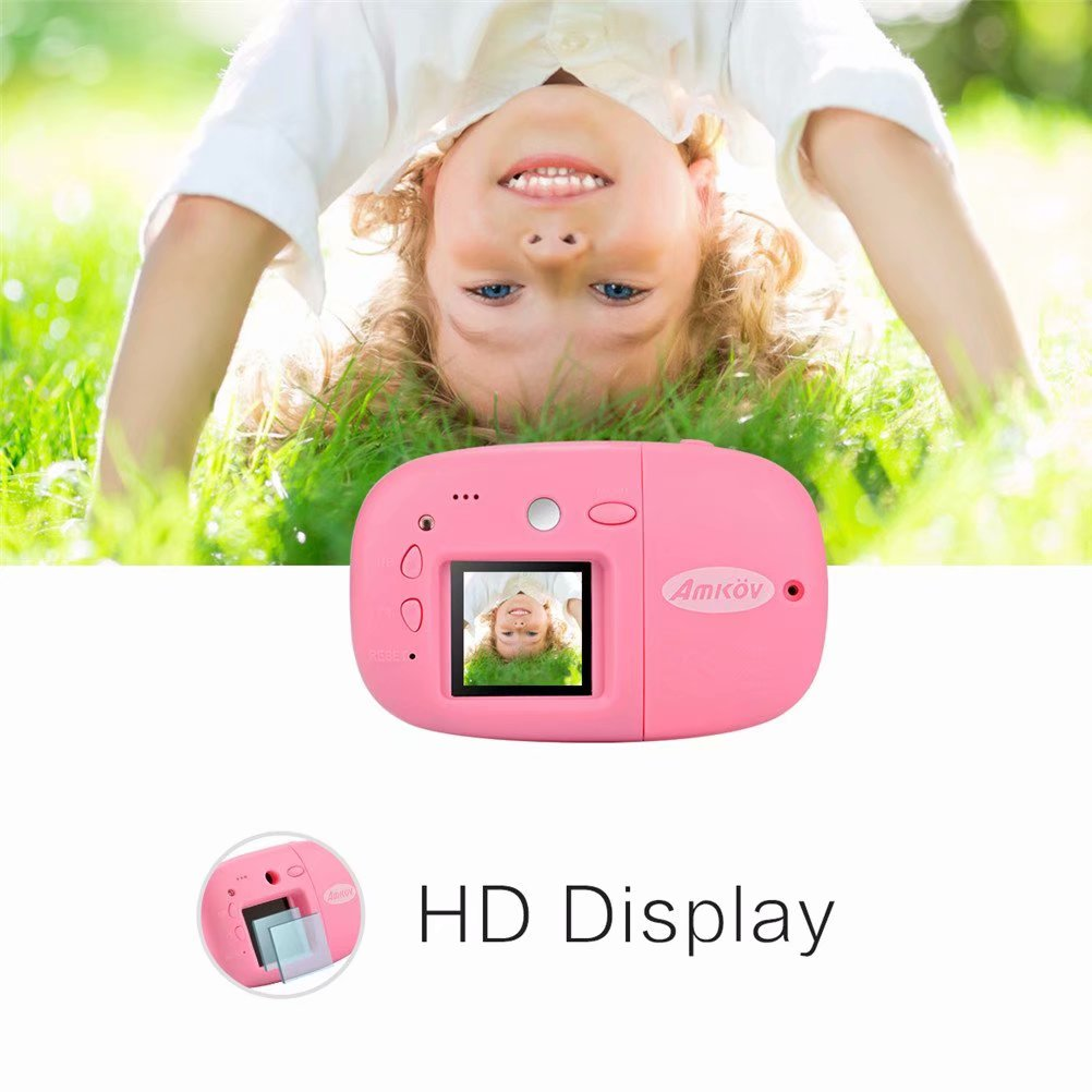 Kid Children 1.44 inch Digital Camera Mini Video HD Camera Recorder Camcorder for Children Toys Gift, Pink