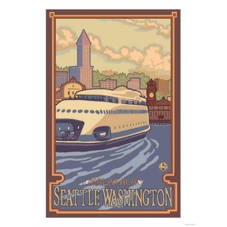 Kalakala Ferry, Seattle, Washington Print Wall Art By Lantern (Seattle Washington Mall)