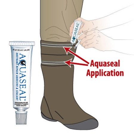Gear Aid Aquaseal Wader Repair Kit with Patches Camping and Hiking - .25 oz - image 1 de 5
