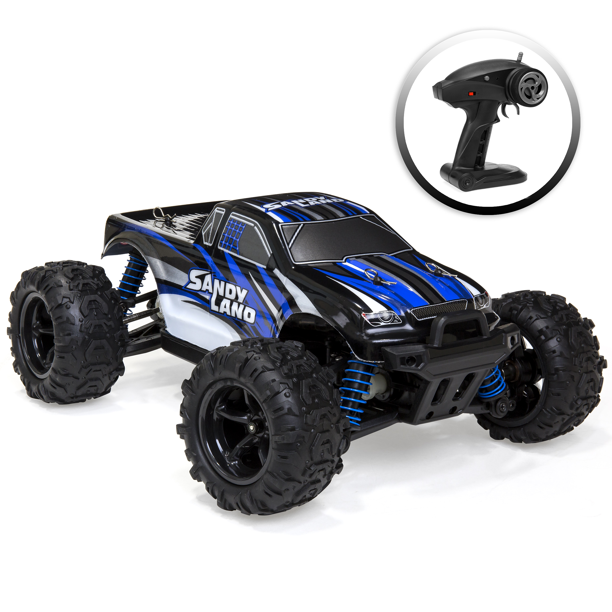Best Choice Products Kids Off-Road Monster Truck Toy RC Remote Control Car (Blue)