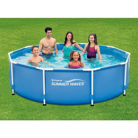 Summer waves 10 39 x 30 round metal frame above ground for Summer waves above ground pool review