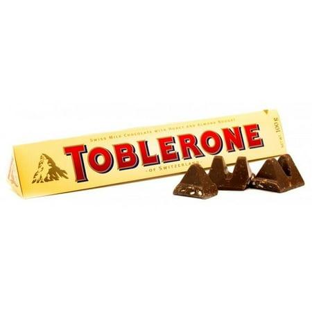 Toblerone Milk Chocolate, 100g (3.52 oz.) (Chocolate Toblerone)