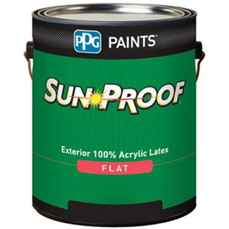 PPG 78-851XI-04 1 qt. Sun Proof Exterior House & Trim Latex, Semi Gloss Black - image 1 of 1