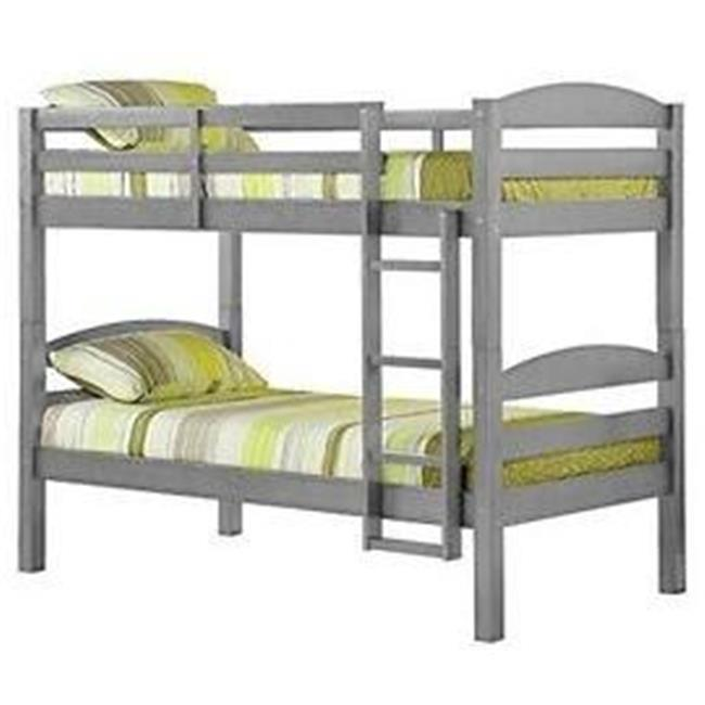 Solid Wood Twin Size Bunk Bed - Gray