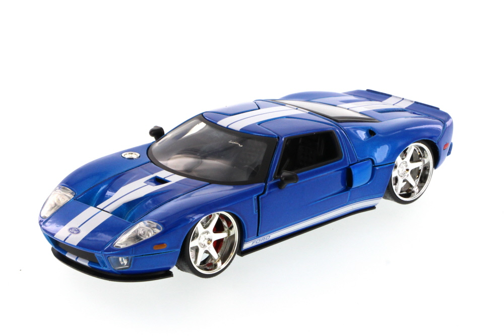 Fast Furious Ford Gt Hard Top Blue Jada  Scalecast Model Toy Car Brand New But Not In Box Walmart Com