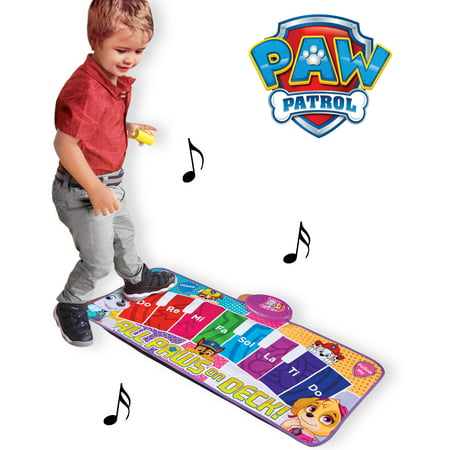 Sakar TOY-15371 Paw Patrol Electronic Piano Music Mat, Light-up Dashboard cues Dance Rhythm, get Your Kid Moving' and Grooving, Keyboard Educational Music Play mat (Toys That Light Up And Play Music)