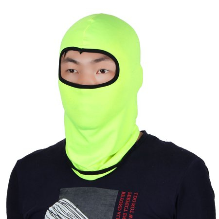 Full Face Protector - Full Face Mask Activities Neck Protector Hat Helmet Balaclava Fluorescent Green