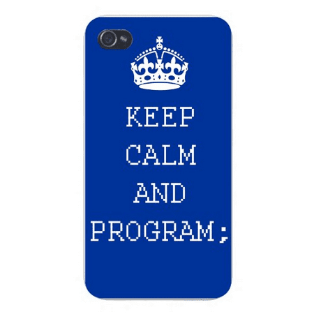 Apple Iphone Custom Case 4 4s White Plastic Snap on - Keep Calm and (Best Iphone Buyback Program)