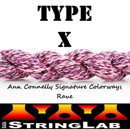 YoYo String Lab Type X - Medium Thick Yo-Yo Strings - 10 pack (Ann Connelly Signature Rave (Purple/Pink))