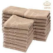 LINVINGbasics Washcloths Towel set, 100% Cotton Washcloths Towel, 24Pcs/Pack