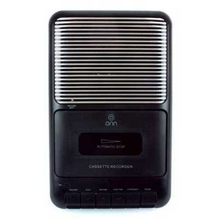 Refurbished Onn Portable Cassette Recorder Showbox with External Microphone & Cassette Tape Black... by