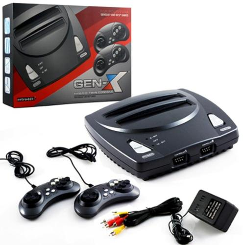2 In 1 8-bit And 16-Bit Controllers AC Adapter And AV Cables For Sega Genesis cartridges