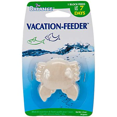 - Penn Plax Crab Shape Vacation Fish Feeder, 1.3 oz (pack of 1)