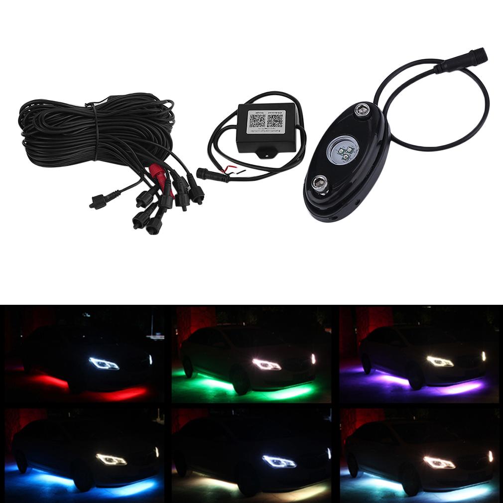 7*3.5cm 8pcs Bluetooth 7 Colors LED Under Car Glow System...