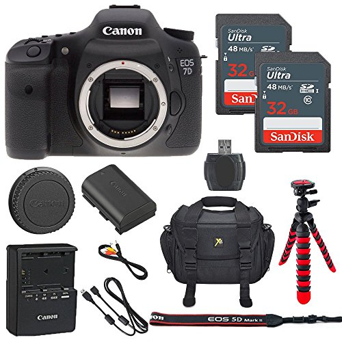 Canon EOS 7D 18MP Digital SLR Camera Body Only + 2 32GB S...