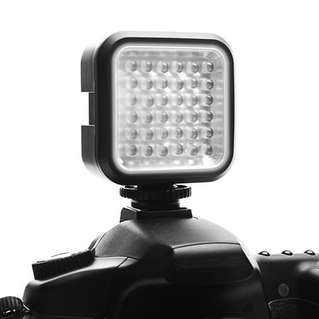 Rechargeable Video Camera Light Panel with 36 Dimmable LED Bulbs , Built-In Diffuser and Universal Mounting Bracket by ENHANCE - Works With Canon , Nikon , Sony , Fujifilm , Pentax and More Cameras