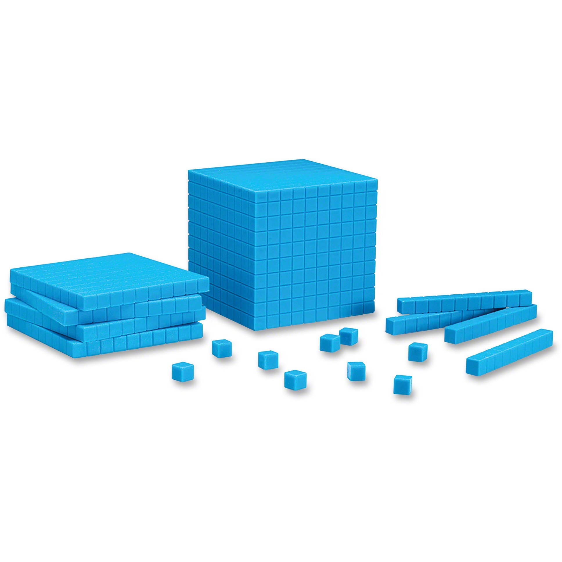 Learning Resources, LRNLER0930, Plastic Base Ten Starter Set, 1 / Set, Blue