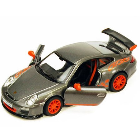 "5"" Kinsmart 2010 Porsche 911 GT3 RS Diecast Toy Model 1:36 Pull Action Grey"