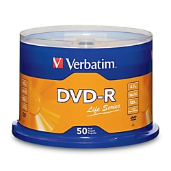 Verbatim Life Series 50pk 16x DVD-R Spindle