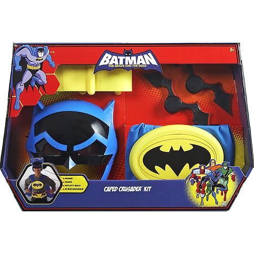 Batman Caped Crusader Dress Up Costume Kit - Includes Mask, Cape, Utility Belt and 2 Batarangs