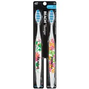 Reach by Design Soft Full Adult Toothbrushes, 2 count