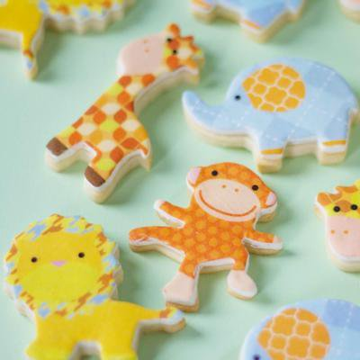 Jungle Monkey, Elephant, Giraffe, Lion Edible Images - 24 Count - National Cake Supply - Food Lion Cake Prices