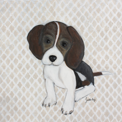 Judith Raye Paintings LLC Puppy Beagle Giclee by Judith Raye Painting Print on Canvas