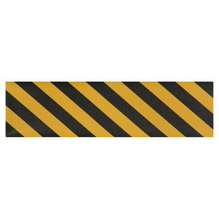 "PIMP Skateboard GRIPTAPE SHEET Yellow/Black Stripe 9"" x 33"" Grip Tape"