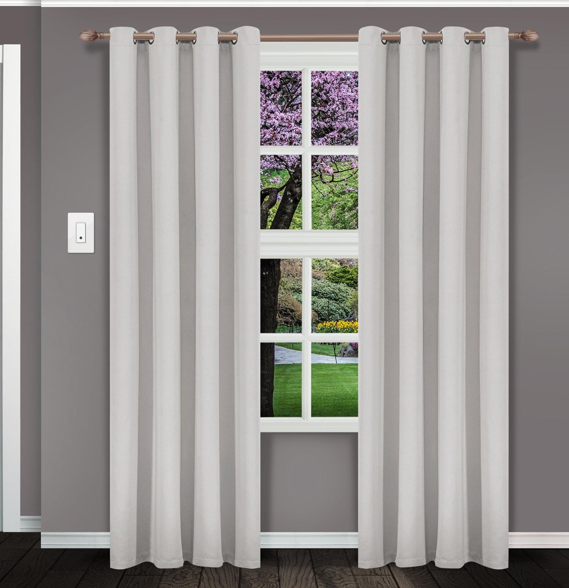 Eclipse Samara Energy Efficient Curtain Noise Isolating Window Panel IVORY 42 x 95 1 Panel