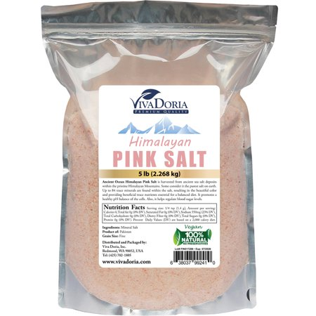 Viva Doria Himalayan Pink Salt - Fine Grain, 5 lb