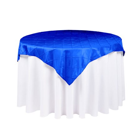 Royal Blue Cloth (Quasimoon Royal Blue Square Pintuck Chameleon Table Cloth Overlay Cover - 72 x 72 Inch by)