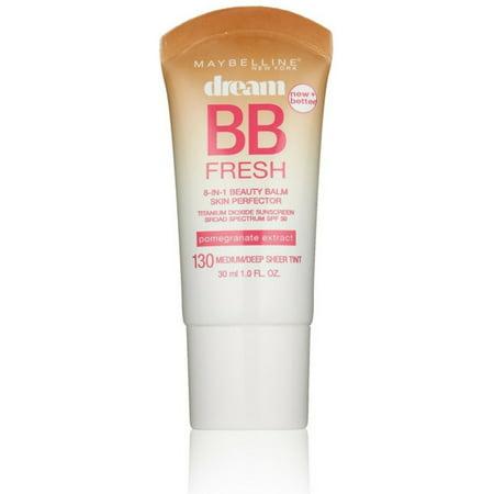 - Maybelline Dream Fresh BB 8-in-1 Beauty Balm Skin Perfector SPF 30, Medium/Deep 1 oz (Pack of 4)