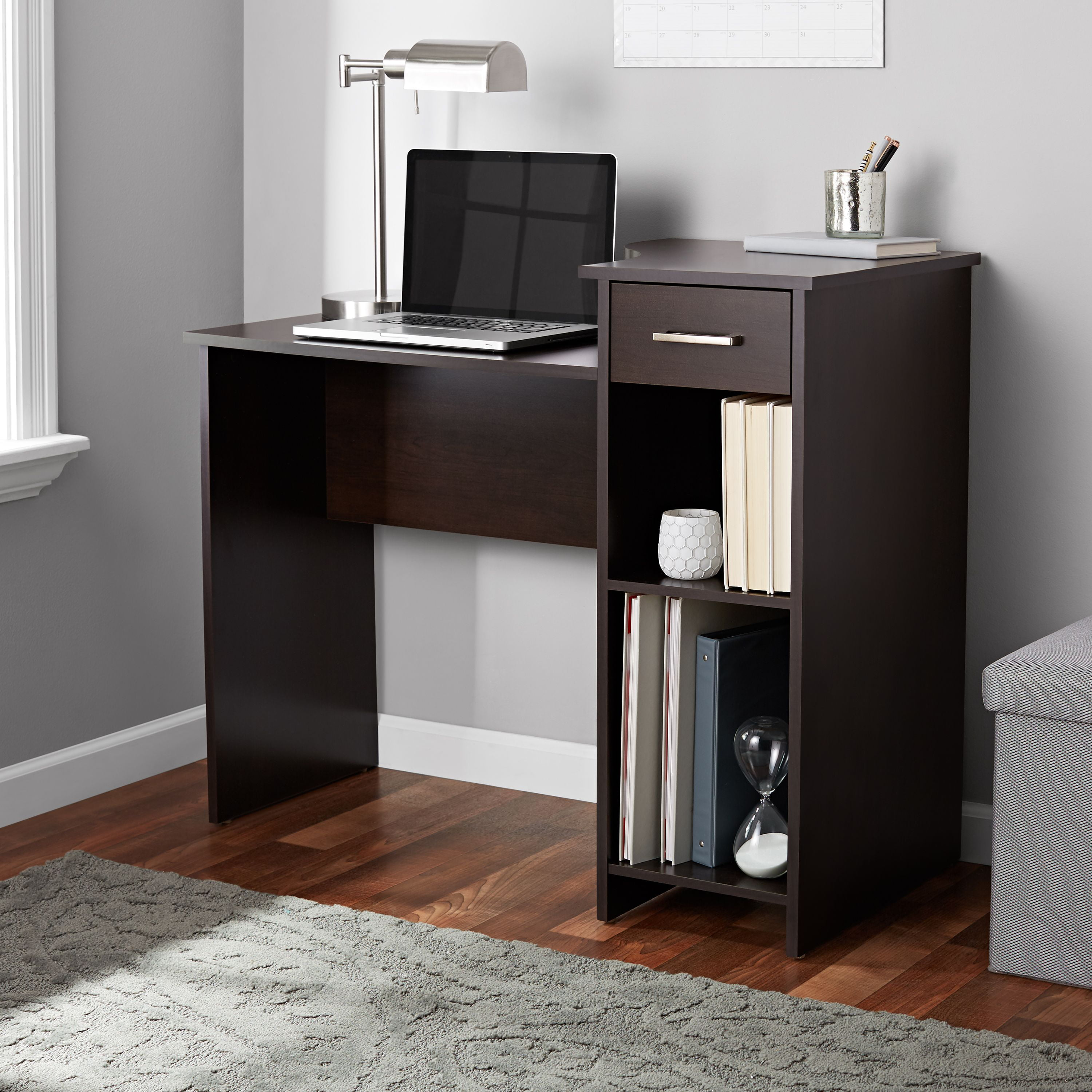 Mainstays Student Desk With Easy-glide Drawer, Cinnamon