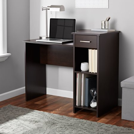 Mainstays Student Desk with Drawer, Cinnamon Cherry Finish