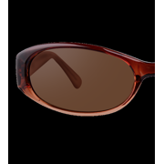 Women's Oval Translucent Brown Sunglasses