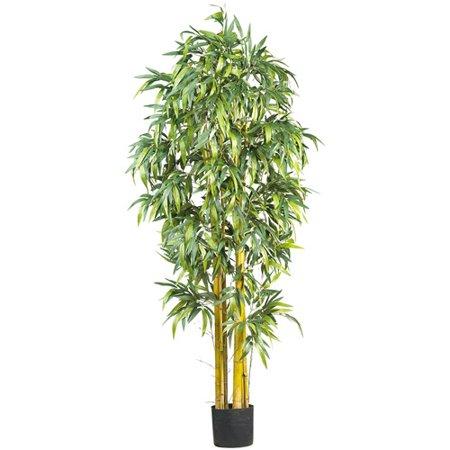 Nearly Natural 6 ft. Big Bamboo Silk Tree ()