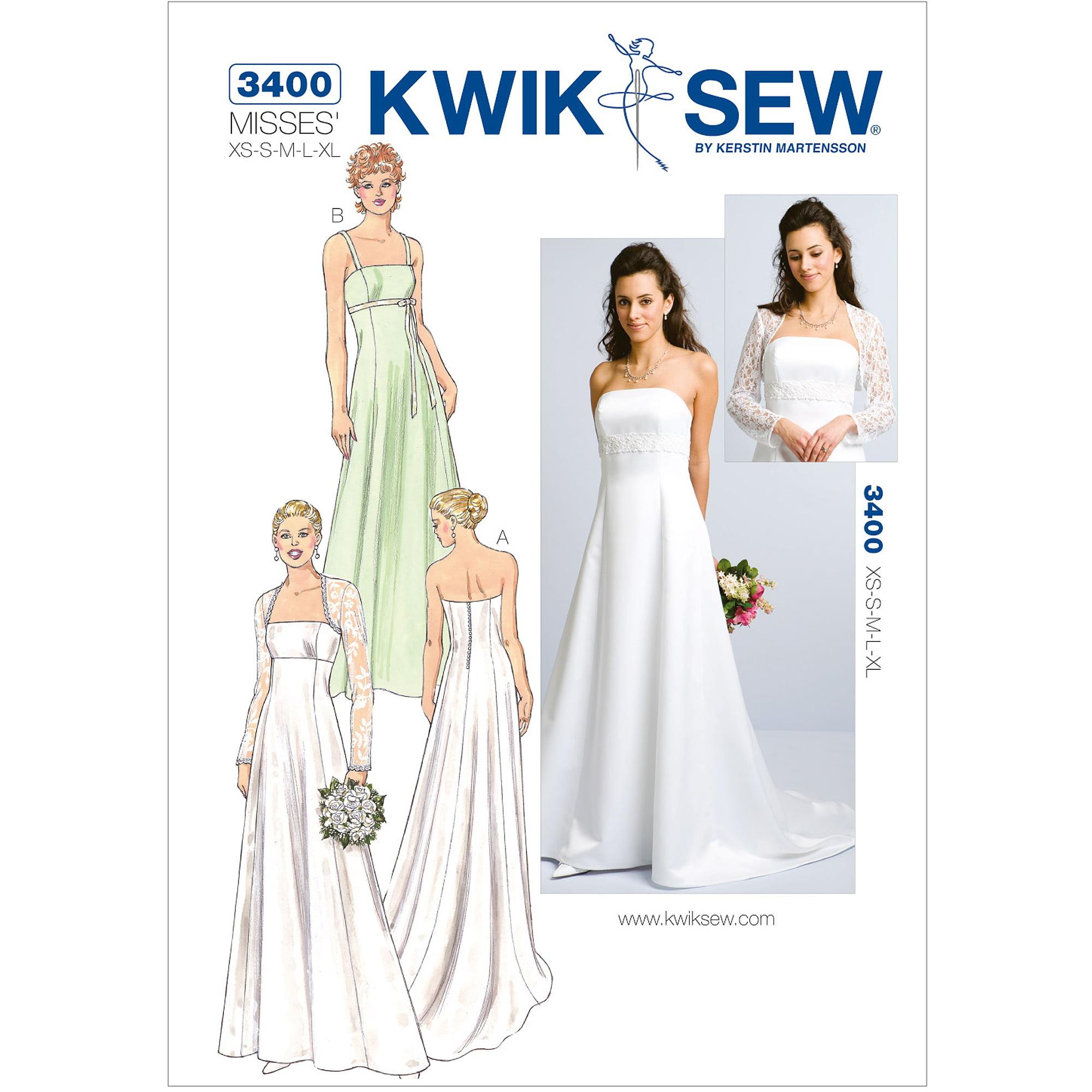 Kwik Sew Pattern Gowns and Bolero, (XS, S, M, L, XL)