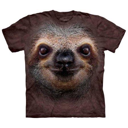 Mushroom Brown Apparel - Youth: Sloth Face Apparel Kids T-Shirt - Brown