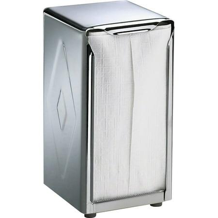 - San Jamar, SJMH900X, Stainless Steel Tabletop Napkin Dispenser, 1 Each, Stainless Steel