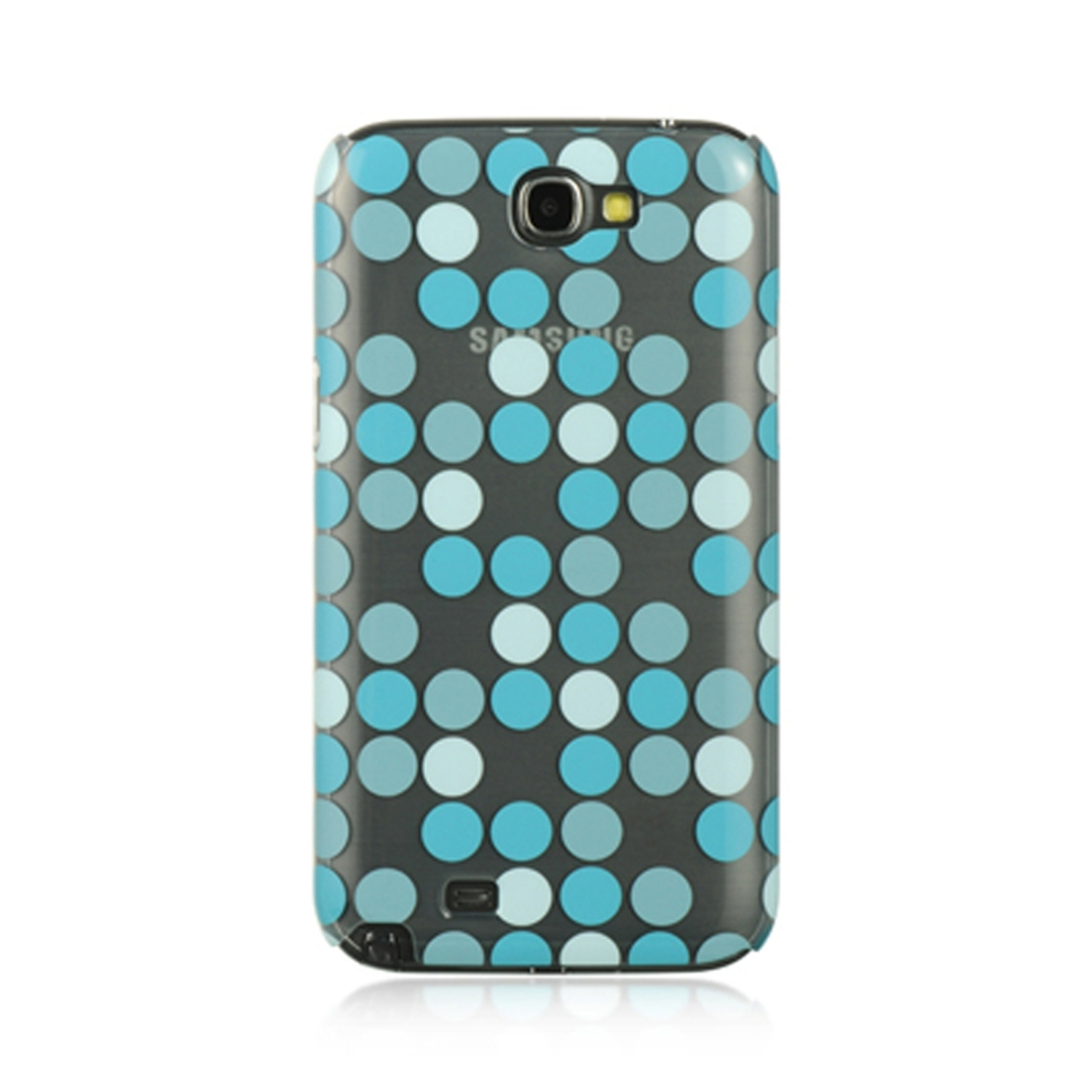 Samsung Galaxy Note 2 Case, by Insten Dots Rubberized Hard Snap-in Case Cover For Samsung Galaxy Note II