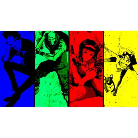 Cowboy Bebop Anime Fabric Poster 24  X 13  Decorr 04