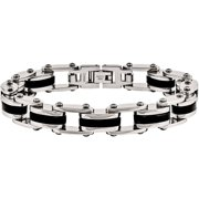 Primal Steel Stainless Steel Black IP-Plated Bracelet, 8.5""
