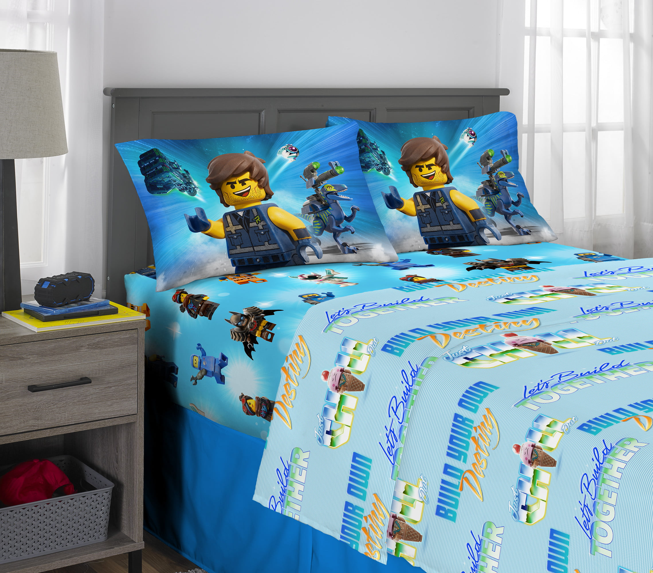 Details about  /Lego Movie 2 Twin Sheet Set 1 Flat /& 1 Fitted Sheet With 1 Standard Pillowcase