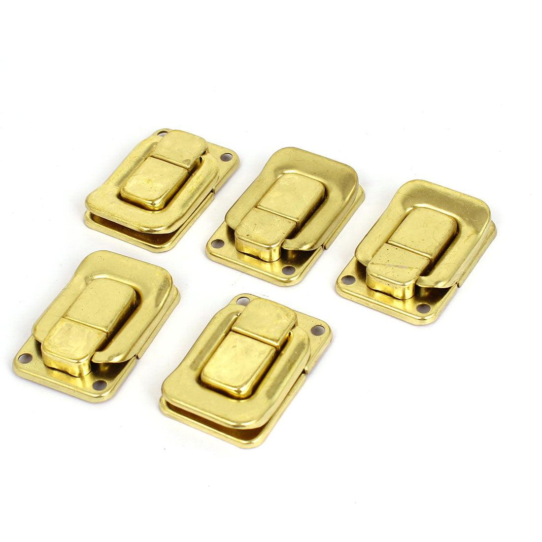 Unique Bargains 5 Pcs Gold Tone Metal Toggle Latch Catch Chest Box Case Suitcase Clasps