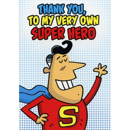 Oatmeal Studios Very Own Super Hero Funny / Humorous Thank You Card](Superhero Thank You Cards)