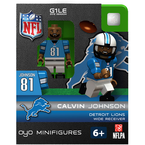 OYO NFL 2013 Lions Calvin Johnson Mini Action Figure